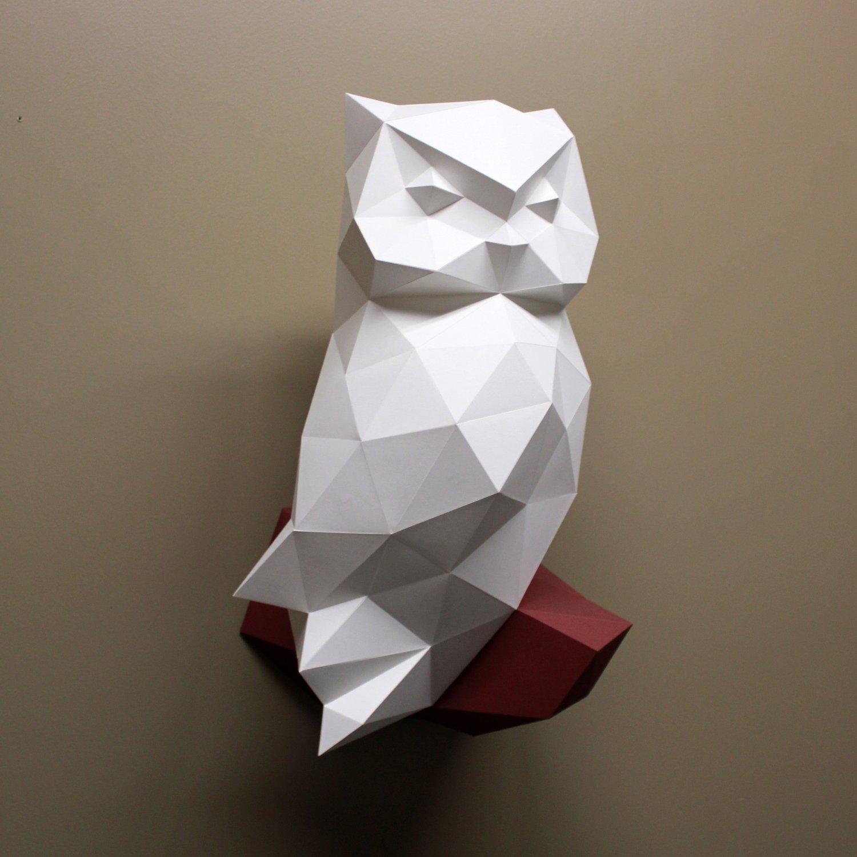 Owl 3D Paper Sculpture Kit