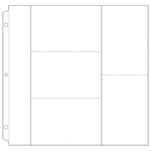 Combination 4 X 6 Refill Pages For 12 X 12 Photo Album Binders