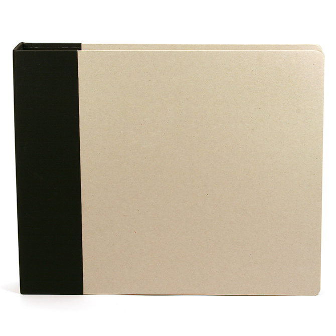 American Crafts 12 X 12 Modern Black And Kraft 3-ring Binder