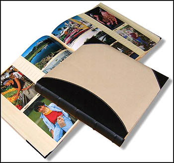 4x6 Linen And Leather High Capacity Photo Album