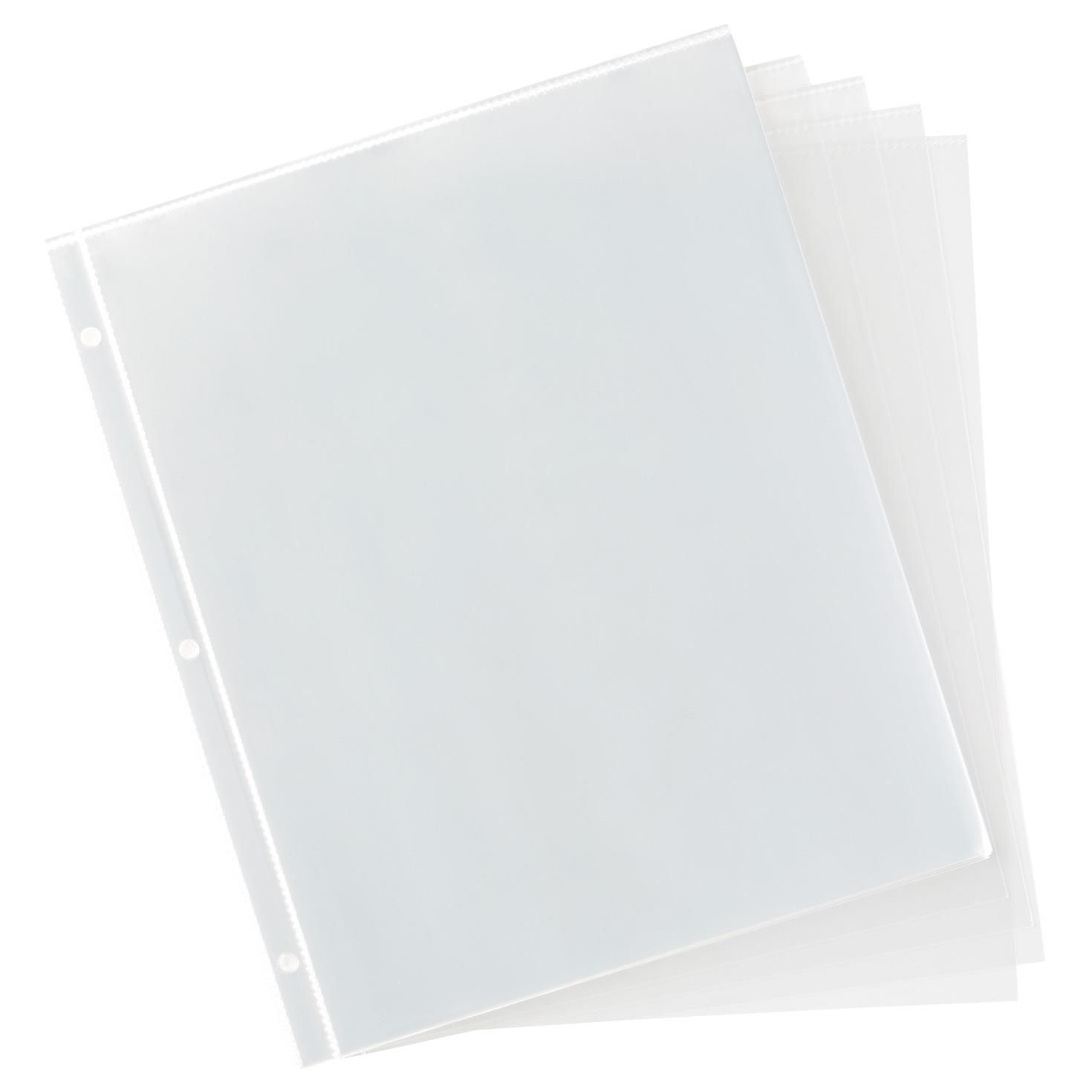 8 5 x 11 3 ring binder refill with white inserts