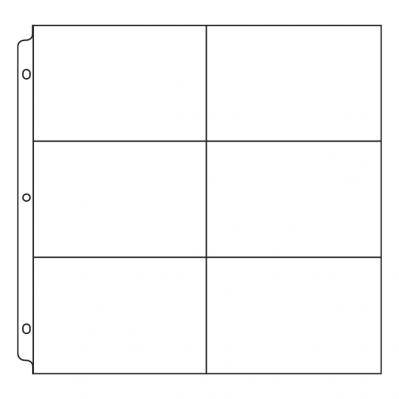 12 x 12 top-loading page protectors for 12 x 12 binders