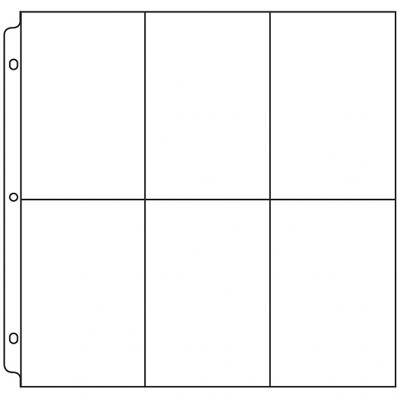 4x6 Photo Page for 12 x 12 3-Ring Binders