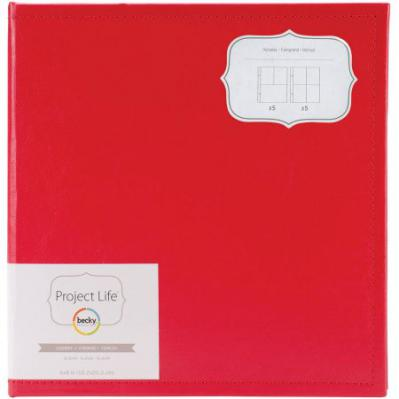 Faux Leather 6x8 Binder in Cherry