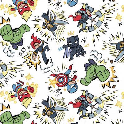 Marvel Avengers Kapow 100% Cotton Fabric