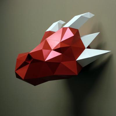 Jasper the Dragon Paper Sculpture