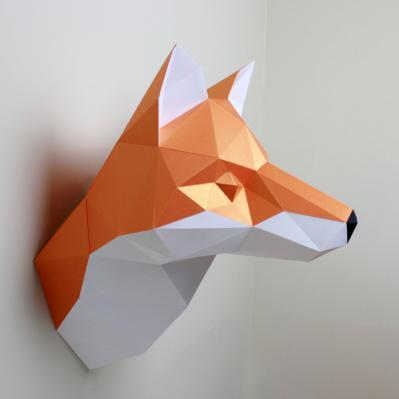 DIY Paper Sculpture Kit - Fox