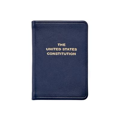 Leather Bound Mini Constitution - Navy