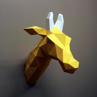 DIY Paper Sculpture Kit - Giraffe