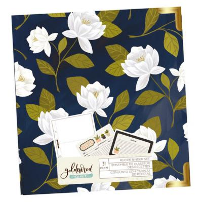 Floral Recipe Binder Set with Recipe Cards