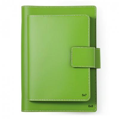 Recycled Italian Leather Journal with snap