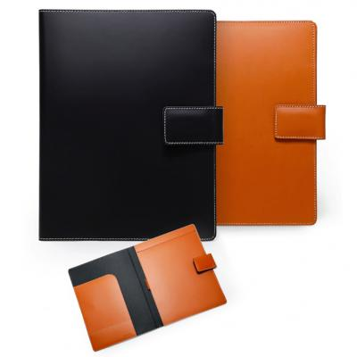 Recycled Italian Leather Portfolios in Black and British Tan