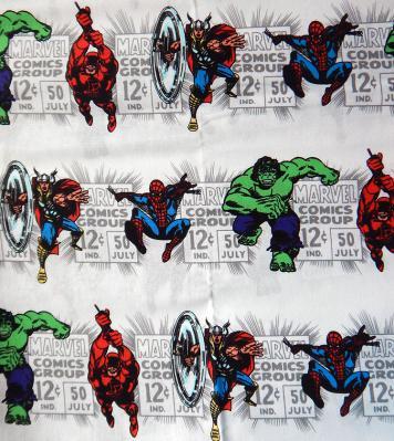 Marvel Universe Themed Fabric