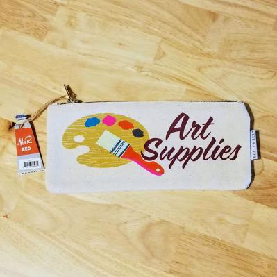Molly and Rex Art Supplies Canvas Pencil Case