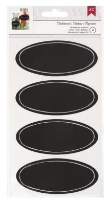 Black Chalkboard Oval Labels