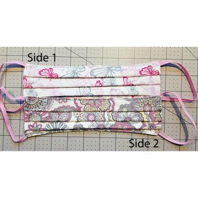 100% Cotton Two-Patterned Face Masks - Paisley & Butterflies