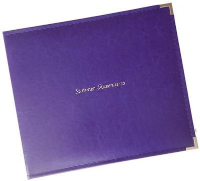 12 x 12 Sewn Leatherette 3-ring Binder Scrapbook