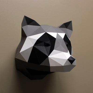 Heidi the Raccoon Paper Sculpture