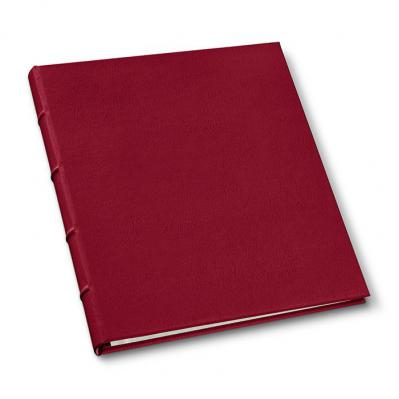 Rich Red Library Look 8.5 x 11 3-Ring Binder