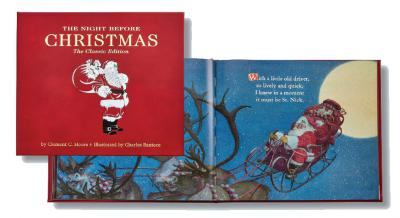 Leather Bound Book - The Night Before Christmas