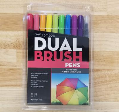 Tombow Dual Brush Markers - Bright Palette