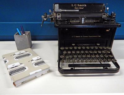 Typewriter Themed Journal with Vintage Typewriter
