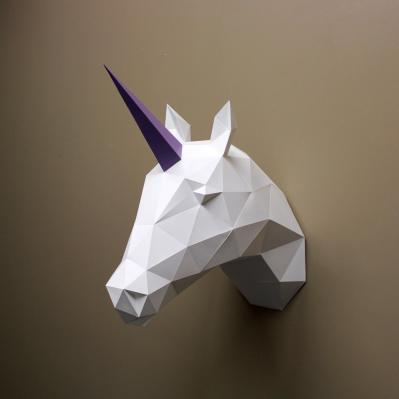 DIY Paper Sculpture Kit - Unicorn