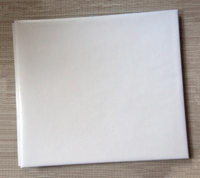 White Bonded Leather 12 x 12 Scrapbook by Dalee Book
