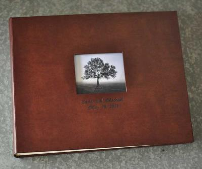Bonded Leather Traditional Scrapbook with interleaving