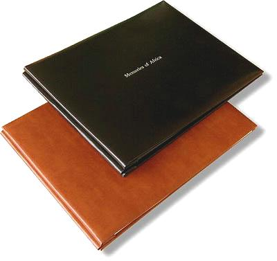Leather 11 x 8.5 Landscape Format Memory Book