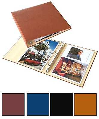 8.5 x 11 Leather 3-ring Binder