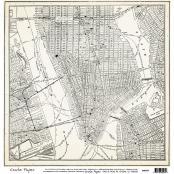 American Crafts Crate Paper - 12 x 12 Map