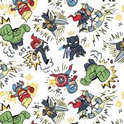 Marvel Avengers Kapow 100% Cotton Fabric