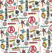 Avengers Heroes Fabric - Fat Quarters