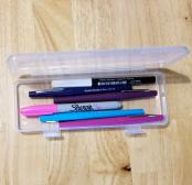 Clear Plastic Pencil Box