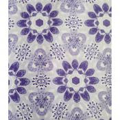Purple on Lavender Geometric Floral Patterned fabric