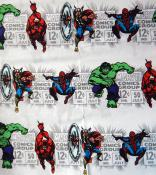 Marvel Universe Themed Fabric