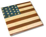 Pioneer Folk Style American Flag Scrapbook